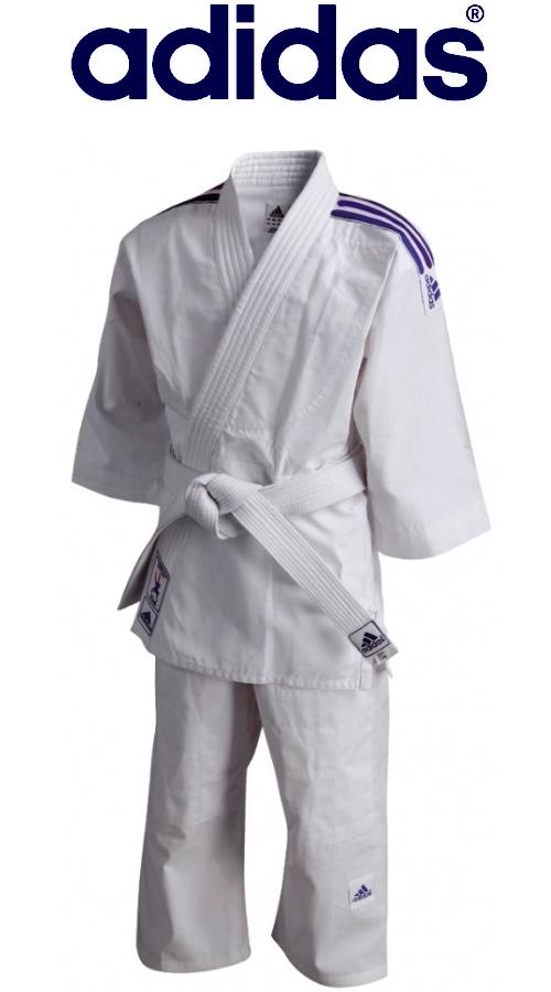 Strój dla dzieci judo i akido Adidas Flash