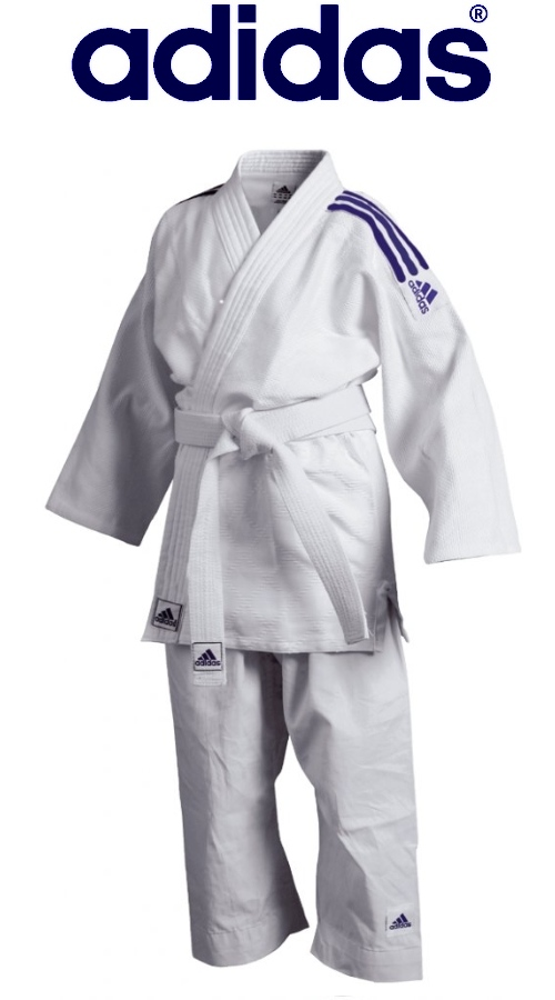 Judoga treningowa juniorska Adidas Club Junior biała