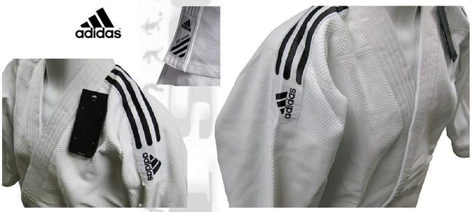 Struktura materiału i krój w judogach Adidas Training czarne pasy