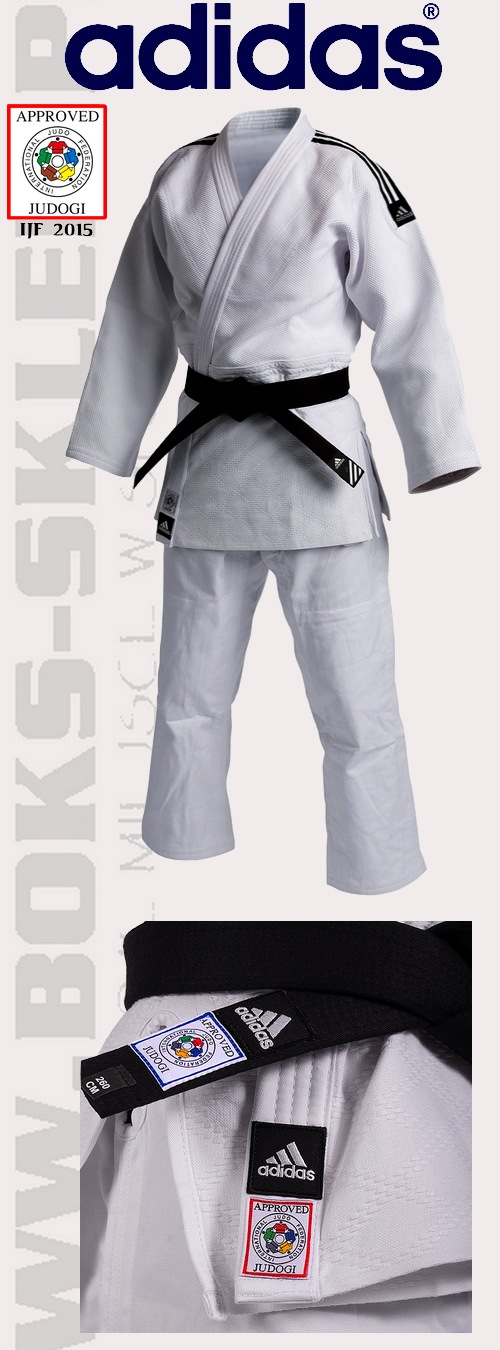 Adidas Judga Champion II IJF 2015, Adidas judo suit Champion II apprved IJF 2015