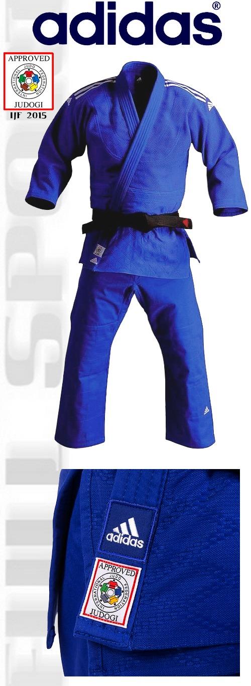 Adidas Judga Champion II Blue IJF 2015, Adidas judo suit Champion II apprved IJF 2015
