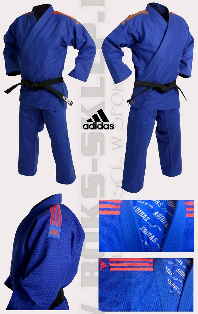 Judoga niebieska Adidas Quest 690gsm
