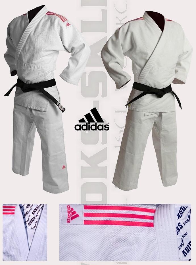 Judoga biała Adidas Quest 690gsm