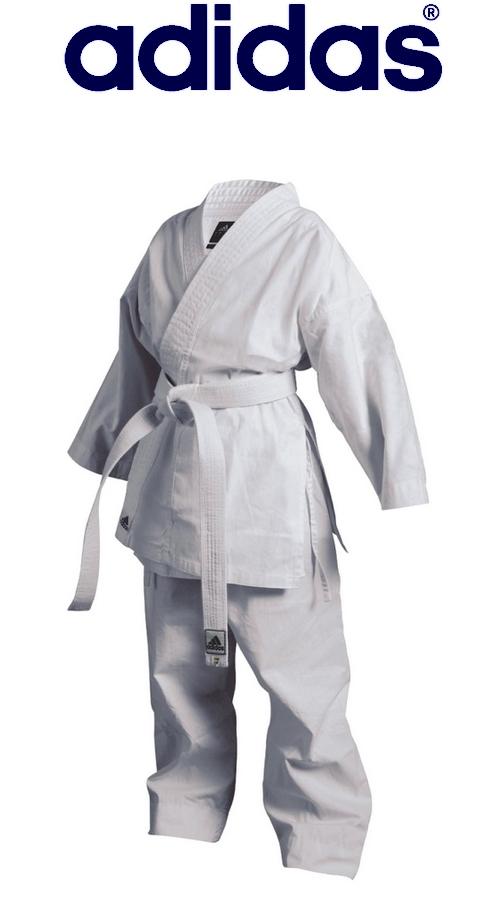 Strój do karate dziecięcy i juniorski Adidas Flasch na FULL-SPORT.PL