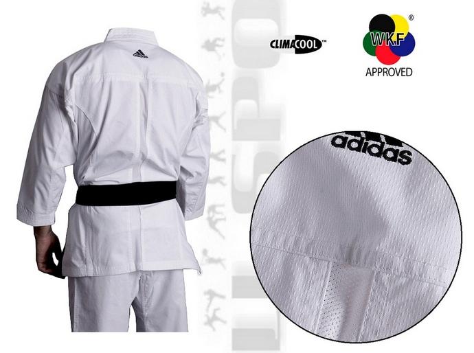 Strój do karate kumite Adidas Kumite z cieniutkiej siateczki