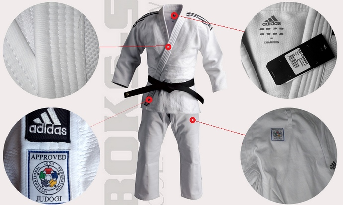 Opis judogi Adidas Champion IJF 930gsm
