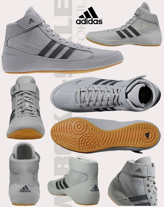 Buty bokserskie zapaśnicze Adidas Havoc 2 HVC 2 szare