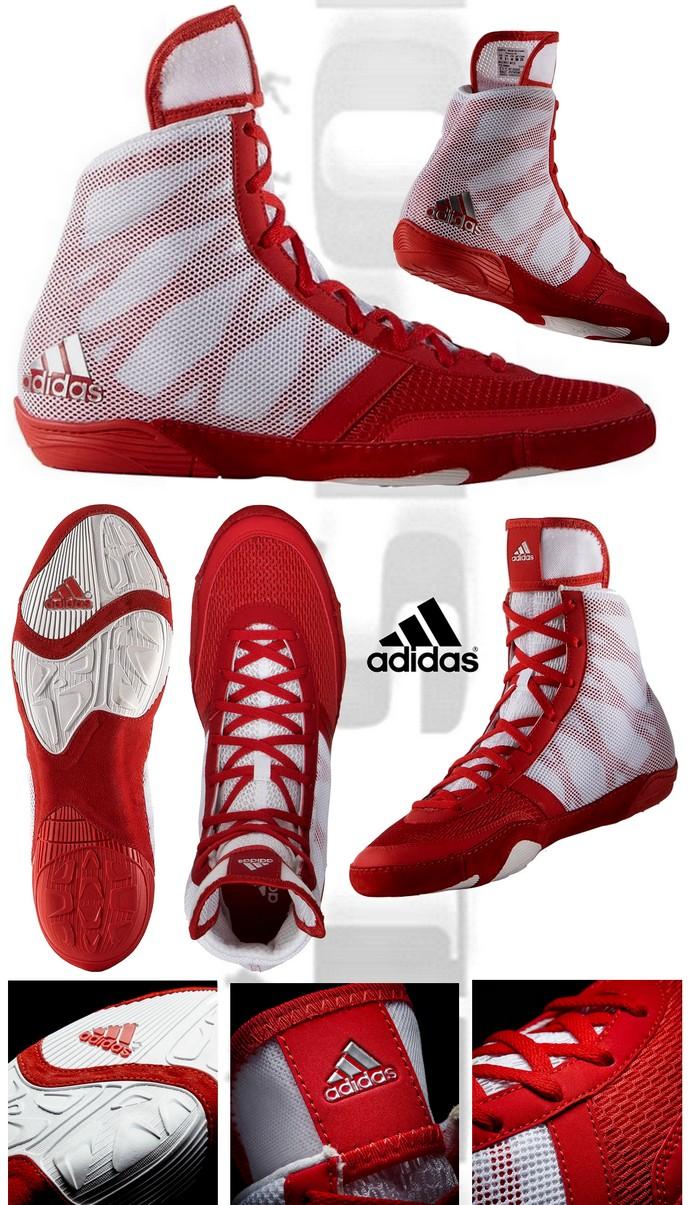 Buty zapaśnicze Adidas Preterio 3 czerwono-białe AQ3293