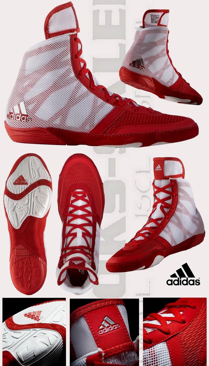 Buty zapaśnicze Adidas Preterio 3 biało-czerwone AQ3293