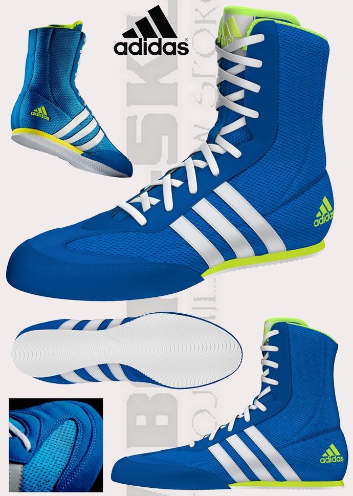 Buty bokserskie Adidas box hog 2 niebieskie 2016