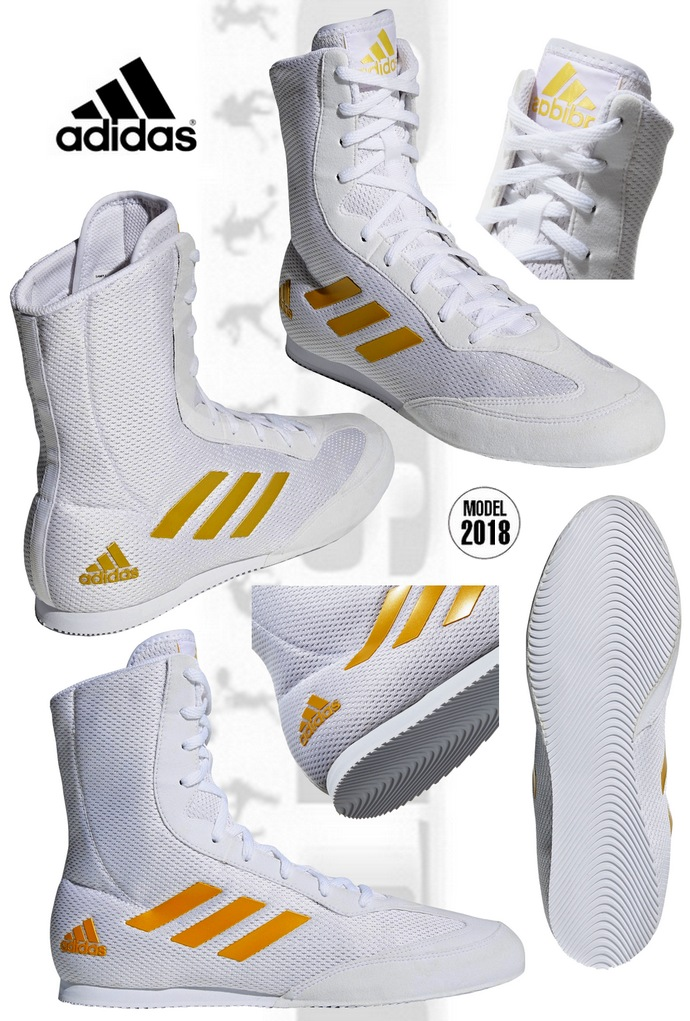 Buty bokserskie Adidas Białe model DA9899 Box Hog Plus White