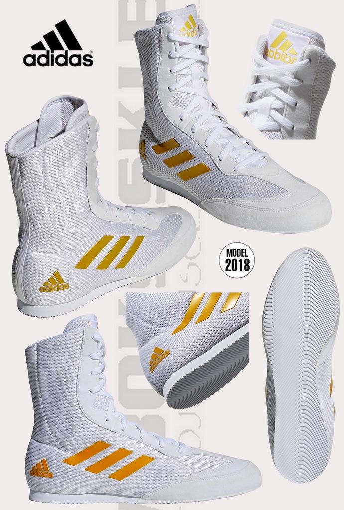Buty bokserskie Adidas Białe model DA9899 Box Hog Plus White