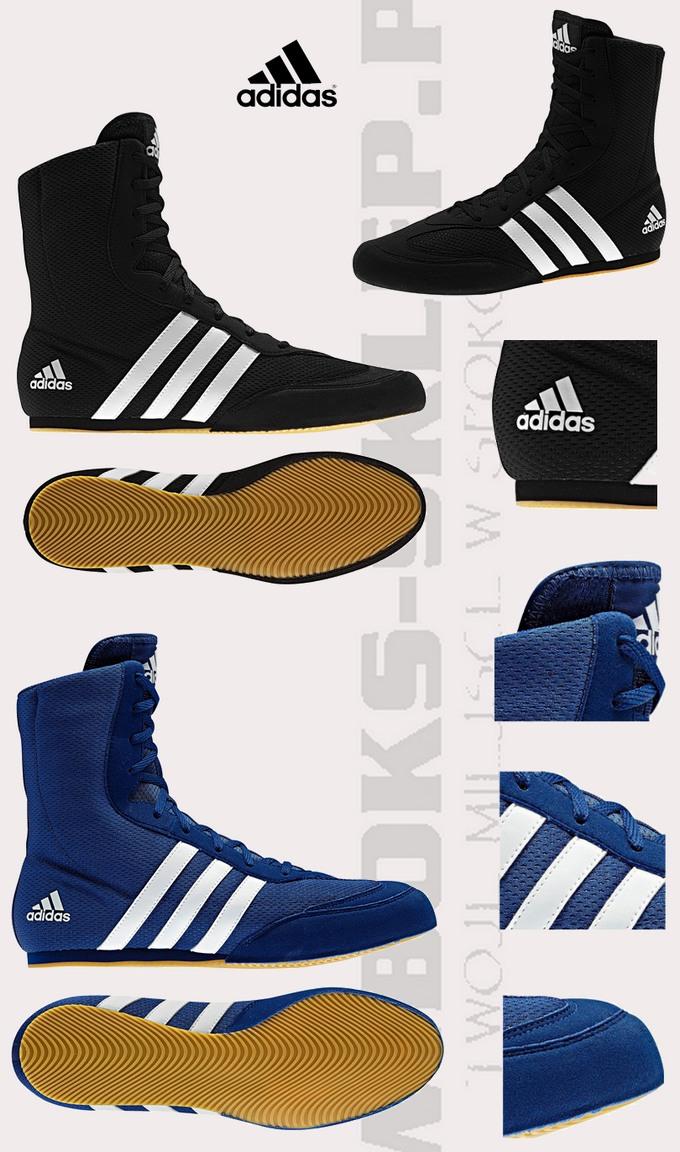 100% authentic 5eb80 8e8a2 Buty bokserskie Adidas Box Hog 2 czarny model 2013. Tabela rozmiarów butów  bokserskiech Adidas, Tabela size boxing-shoes Adidas