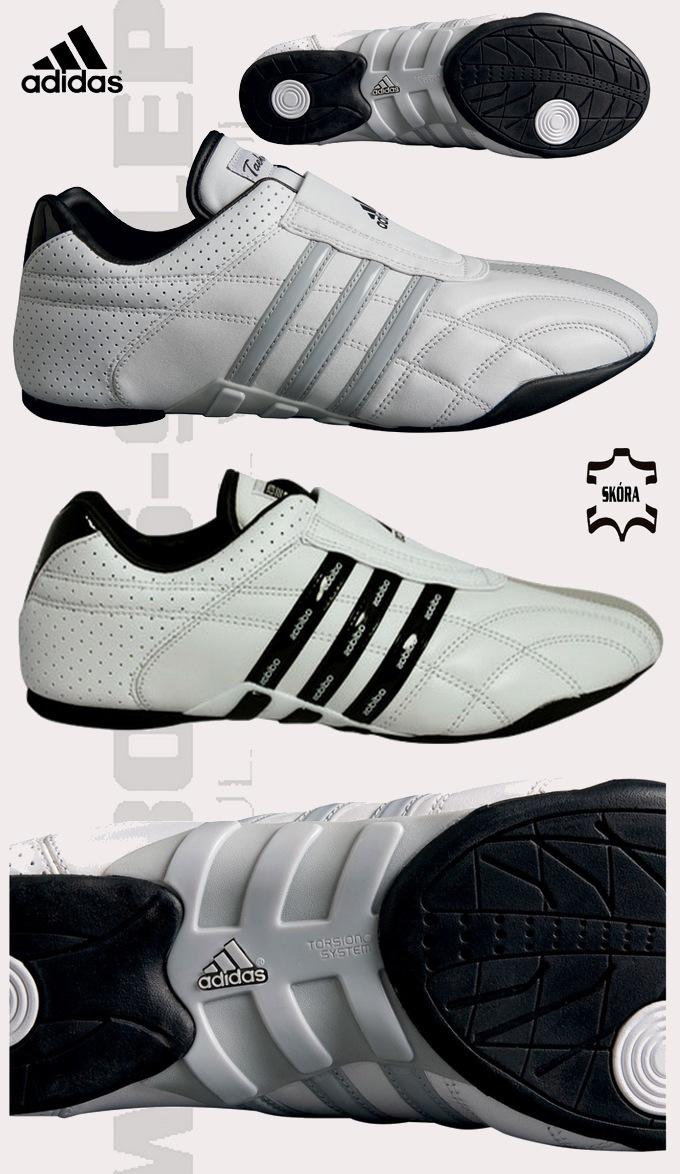 Buty adidas ADI KICK (karate, taekwondo) biało czarne