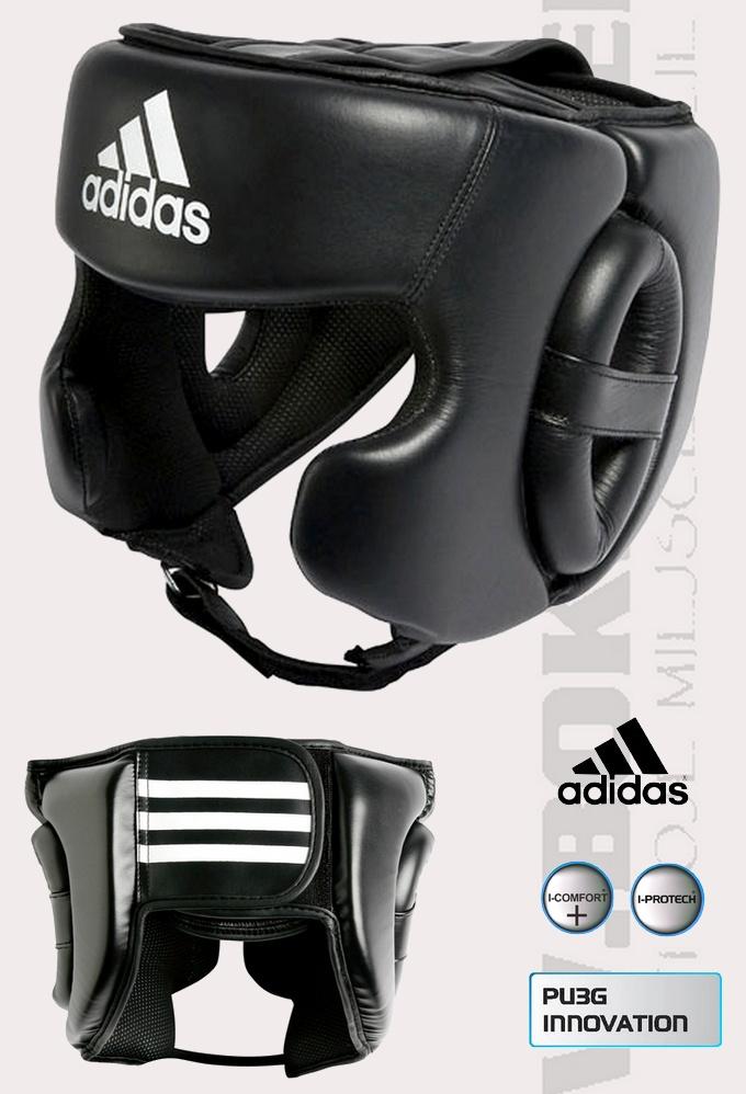 ADIBHG031 Kask bokserski sparingowy Adidas Training. Boxing Halmet Adidas Training leather