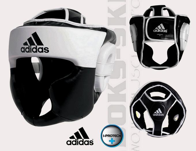 Kask sparingowy Adidas Response biało-czarny PU adibhg023