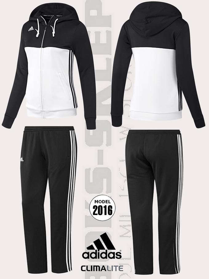 Damski dres treningowy ADIDAS T16 czarno biały