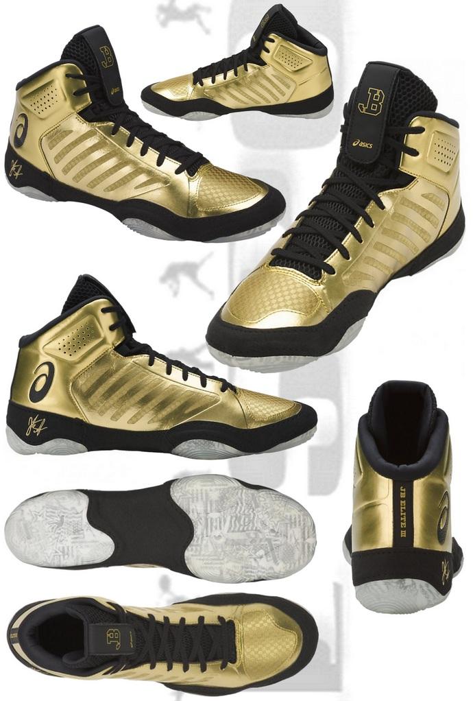 Buty zapaśnicze ASICS JB Elite III M Złote J702N 9490 Gold-Black
