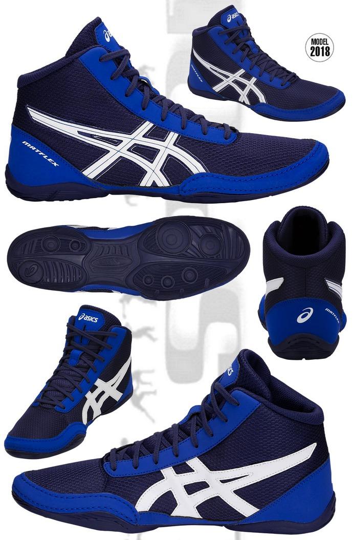 Buty zapaśnicze ASICS Matflex 5 niebeiskie