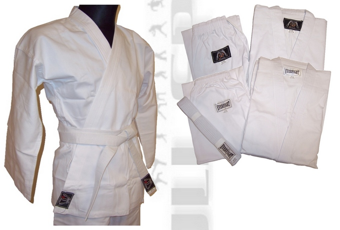 Strój do karate Phantera, strój do karate Everfight, karatega 8oz biała Phantera