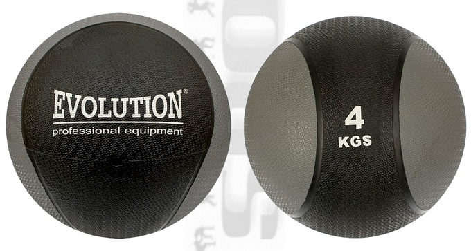 RG-540 Piłka lekarska gumowa Evolution 4kg, Medical Ball Rubby Evolution