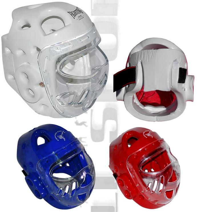 Kask piankowy WTF kask Fighting Empire z osłoną twarzy