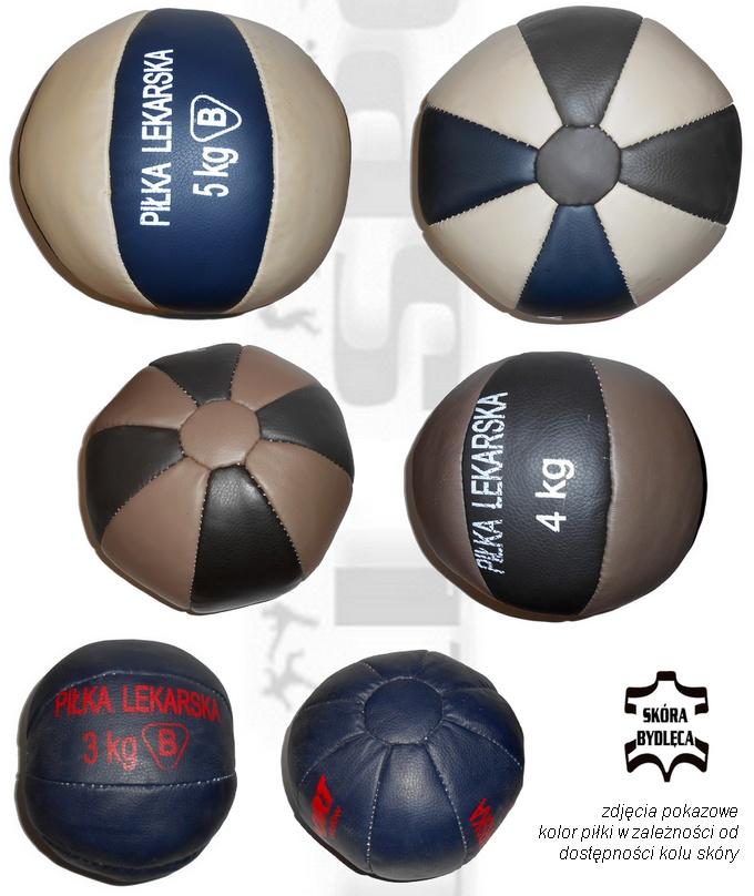 Piłka lekarska skórzana, piłka rehabilitacyjna skórzana, piłka lekarska prosport, medical ball