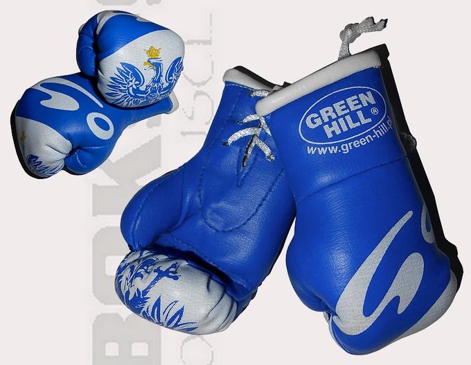 Mini rękawiczki Go Sport, Mini rękawiczki niebieskie z orzełkiem,, Mini gloves Green Hill Blue