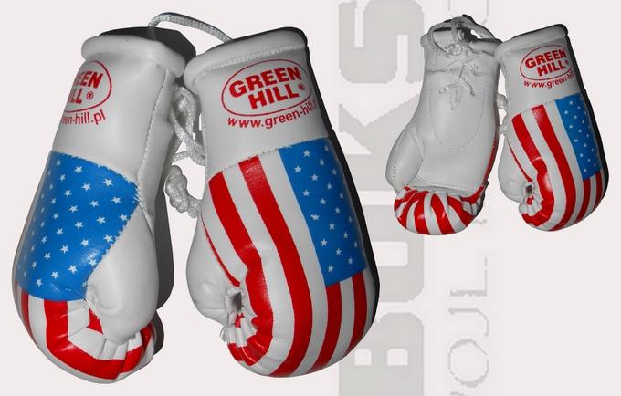 Mini rękawiczki USA, Mini rękawiczki z flagą USA, mini gloves usa Green Hill