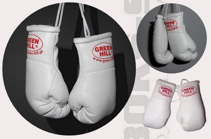 Mini rękawiczki Green Hill białe, Mini Gloves Green Hill White