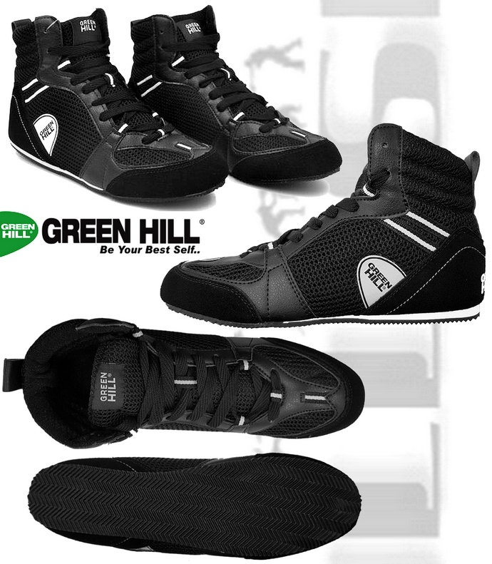 Buty bokserskie Green Hill czarne PS-006