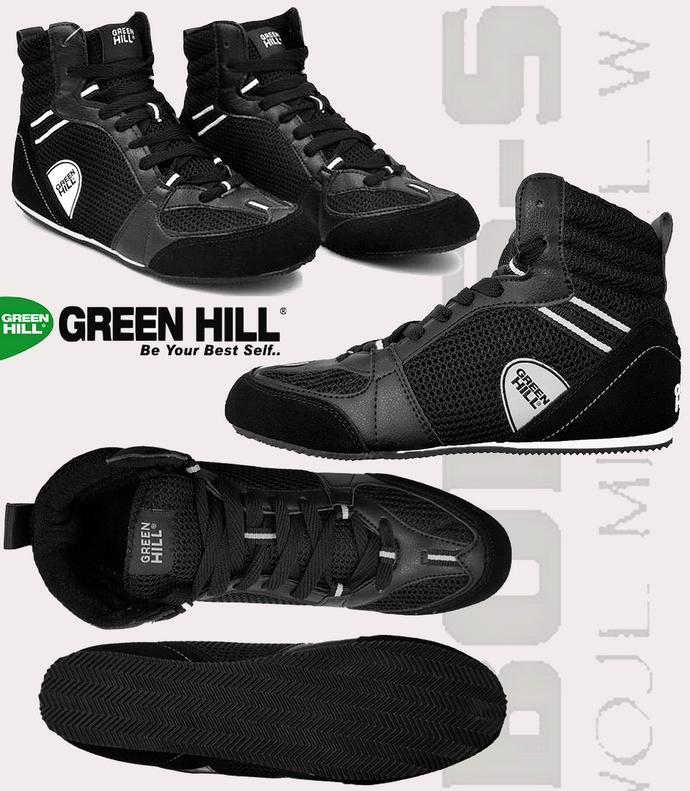 Buty bokserskie Green Hill czarne PS-006
