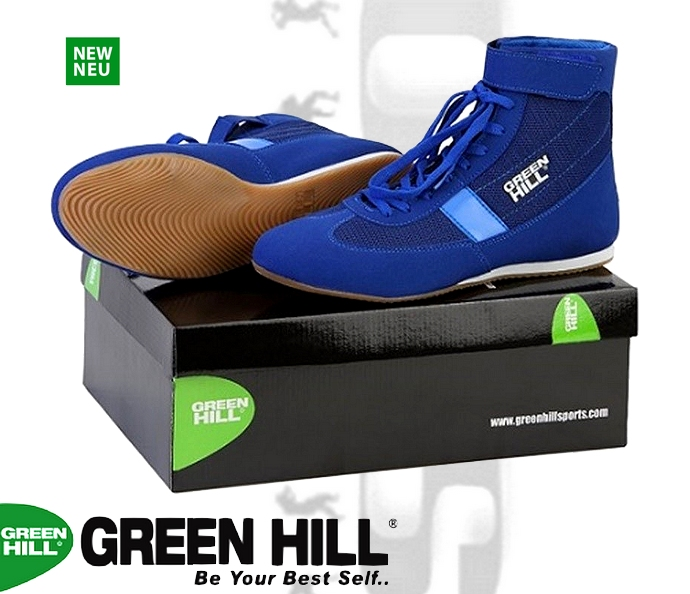Buty bokserskie Green Hill niebieskie SSB-1802 model 2018
