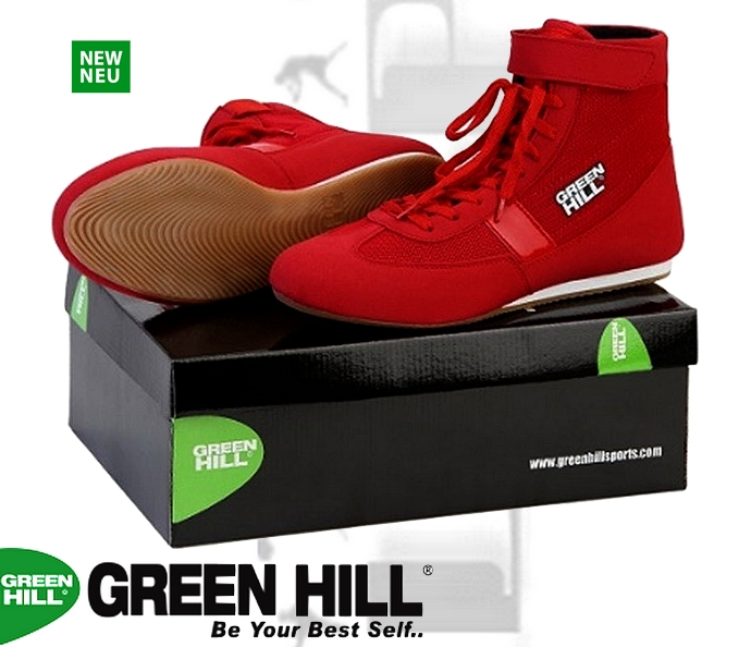 Buty bokserskie Green Hill czerwony SSB-1802 model 2018
