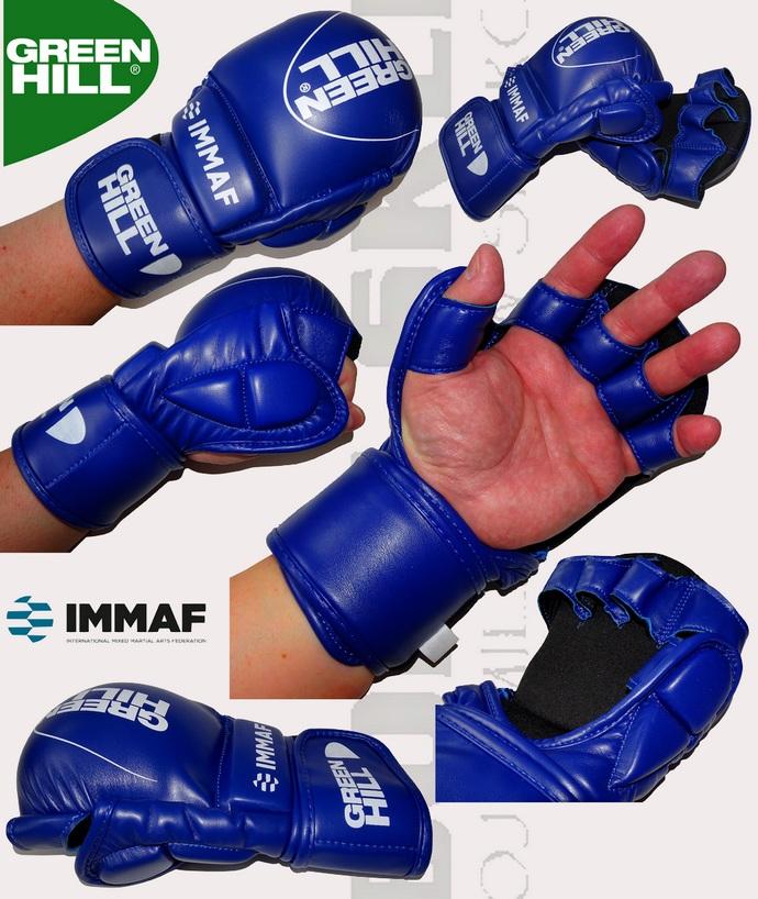 Rękawice MMA Green Hill MMI-601 - zatwierdzone przez IMMAF - niebieskie