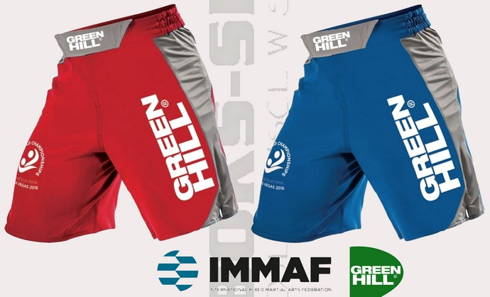 Spodenki MMA z certyfikatem IMMAF - Green Hill MMS-580