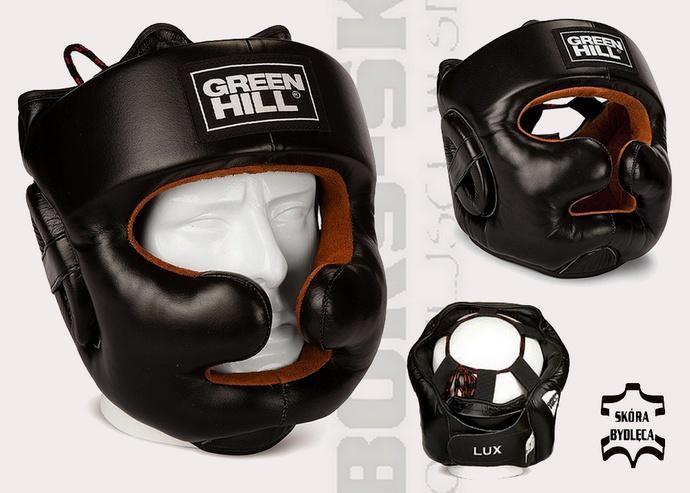 Kask sparingowy bokserski Green Hill Lux HGL-9049 skóra bydlęca
