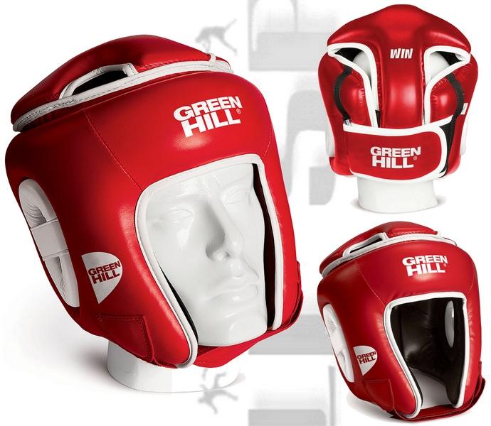 Kask do kick-boxingu turniejowy Green Hill WIN czerwony HGW-9033