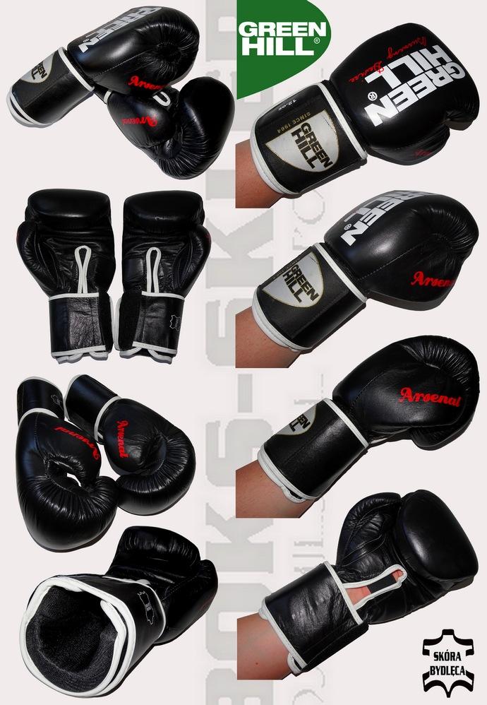 Rękawice bokserskie treningowe Green Hill Arsenal BGA-2236 skóra bydlęca