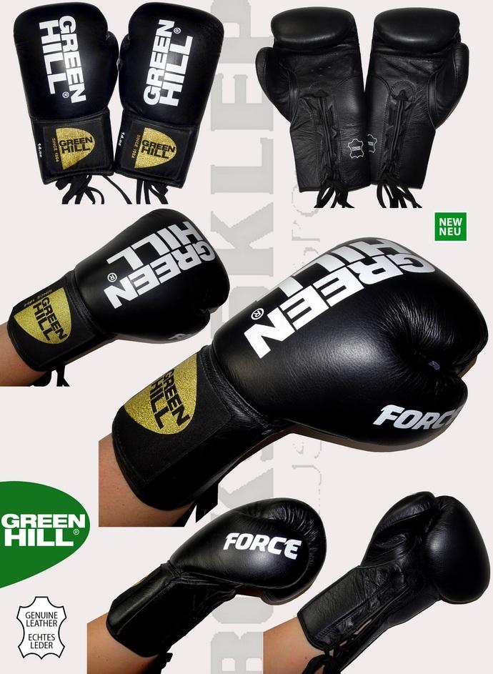 Rękawice wiązane Green Hill Force czarne