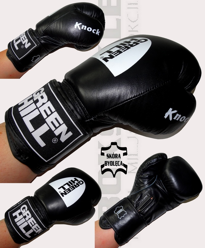 Rękawice bokserskie Green Hill KNOCK BGK-2105 12oz skórzane