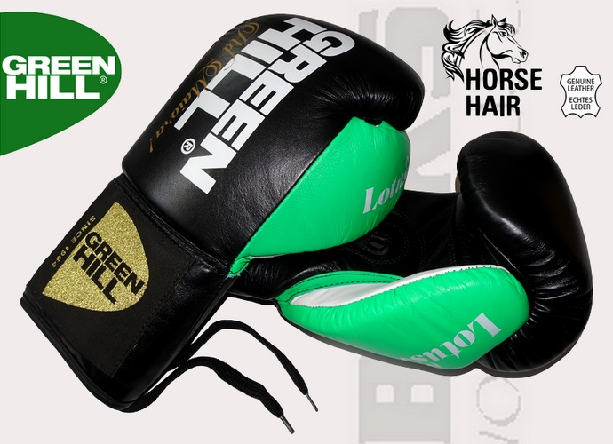 Rękawice boksers kie profesjonalne startowe Green Hill Lotus BGL-2245 wiązane