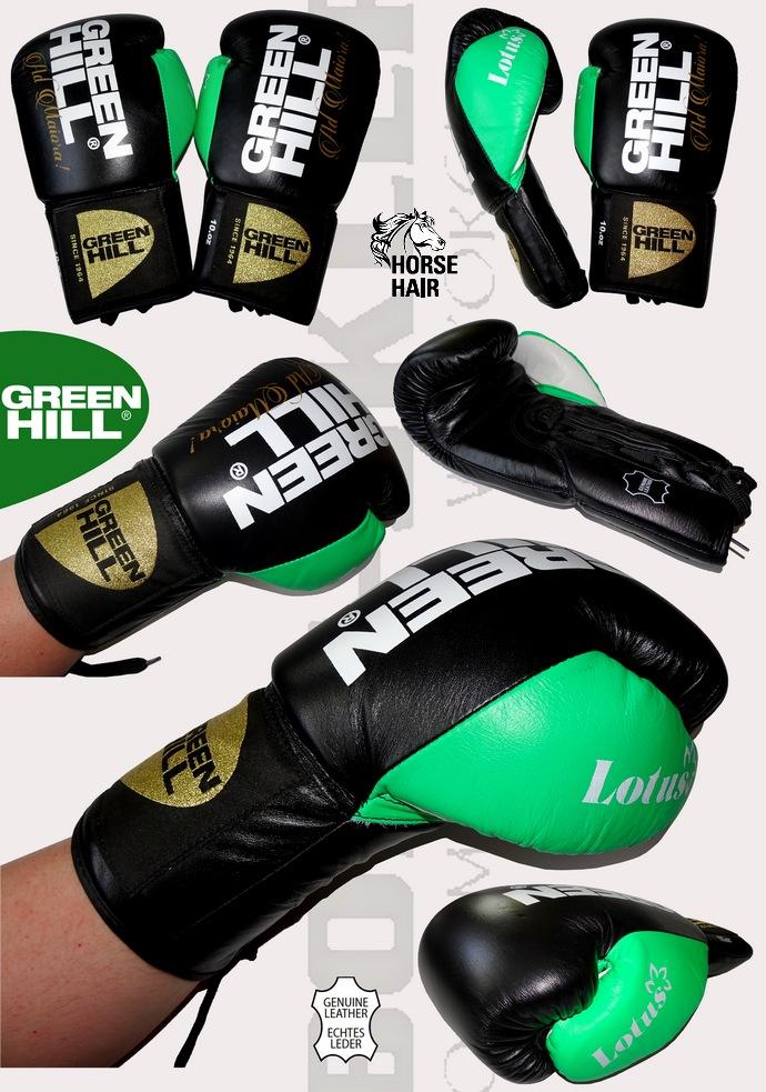 Rękawice bokserskie wiązane Green Hill LOTUS