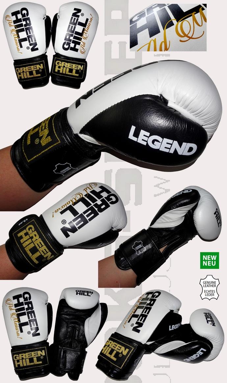 Rękawice bokserskie Green Hill Legend Białe