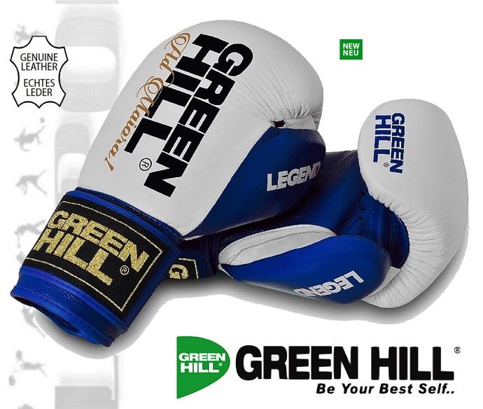 Rękawice bokserskie Green Hill LEGEND biało-niebieskie BGL-2246