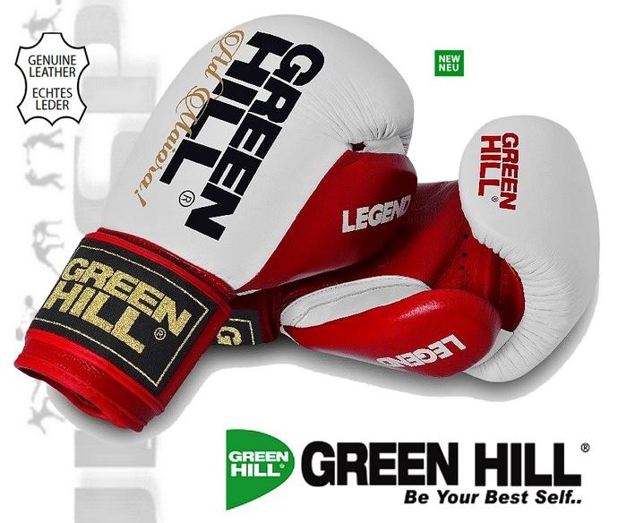 Rękawice bokserskie Green Hill LEGEND Czerwono-białe BGL-2246