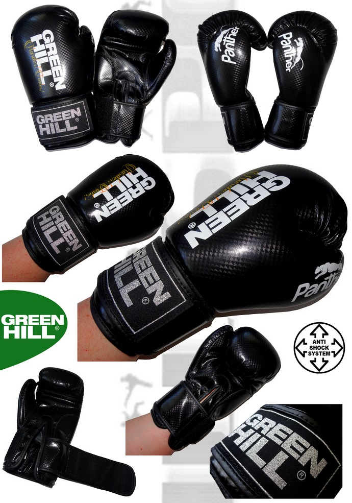 Rękawice bokserskie sparingowe Green Hill Panther czarne BGP-2098
