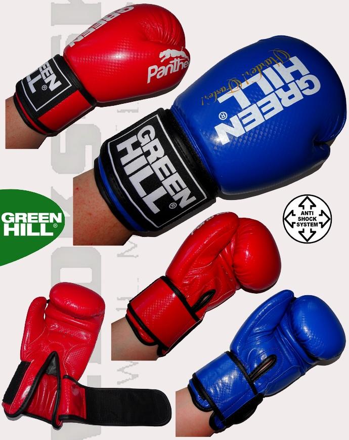 Rękawice bokserskie Green Hill Panther BGP-2098 niebieskie lub czerwone