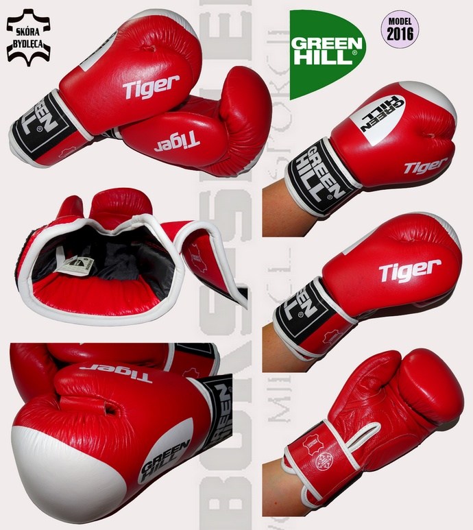 Rękawice Green Hill Tiger czerwone model 2016