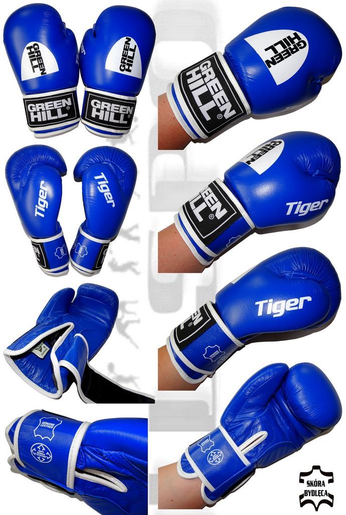Rękawice bokserskie Green Hill Tiger niebieskie 12oz